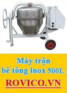 Máy trộn bê tông inox 500L